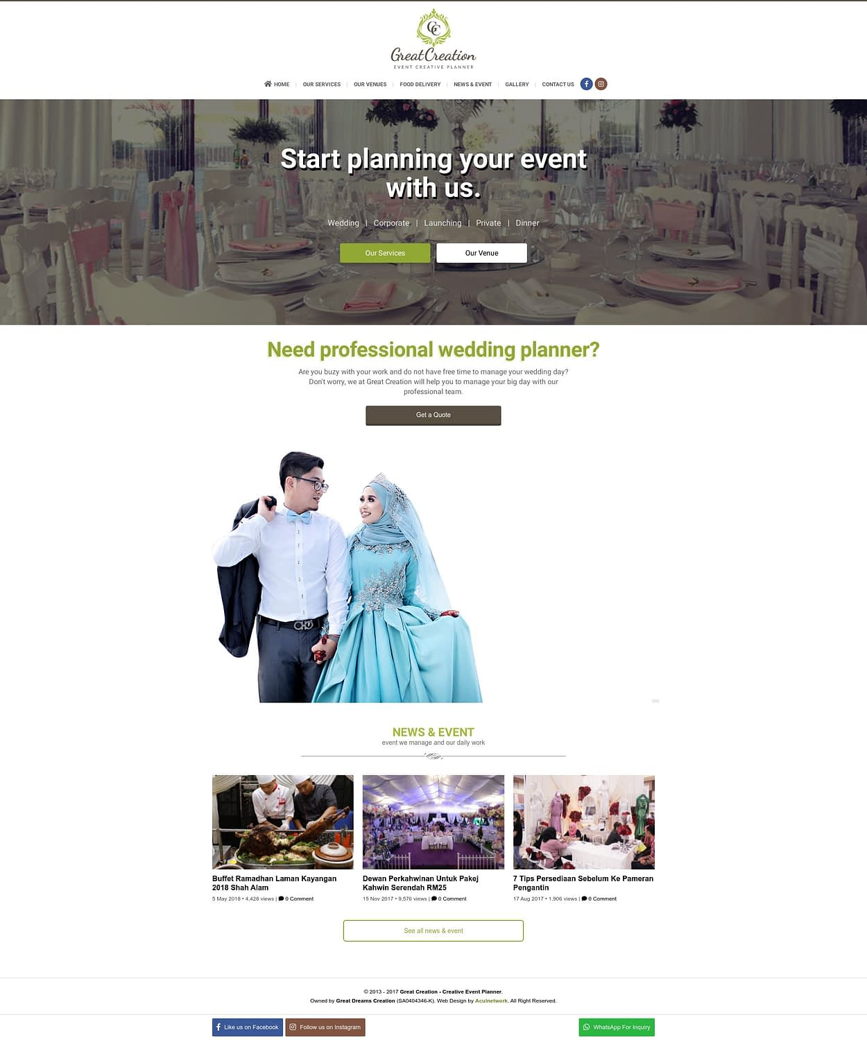 Great Creation - Creative Event Planner